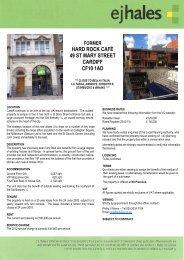 former hard rock café 49 st mary street cardiff cf10 1ad - EJ Hales