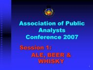 Brewing - The Early Years - Association of Public Analysts
