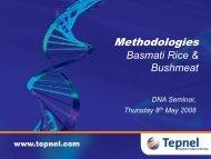 Methodologies Basmati Rice & Bushmeat