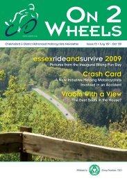 essexrideandsurvive 2009 Crash Card Vroom with a View - CADAM