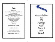 An Invitation The Apulian Youth Council U.S.A. - Italy Culture Month