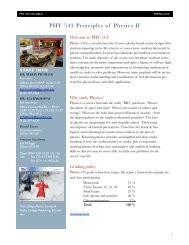 PHY 543 Principles of Physics II - Goucher College