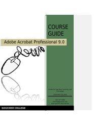 Adobe Acrobat 9.0 Course Guide - Goucher College