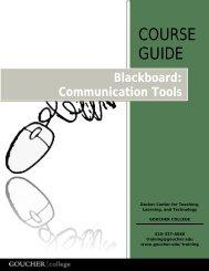 Blackboard Communication Tools - Goucher College