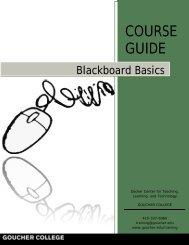 Blackboard Basics - Goucher College