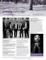 events calendar - Goucher College