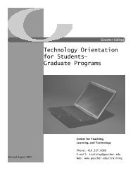 Technology Orientations: Graduate Students - Goucher College