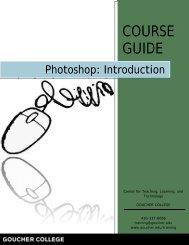 Photoshop Introduction - Goucher College