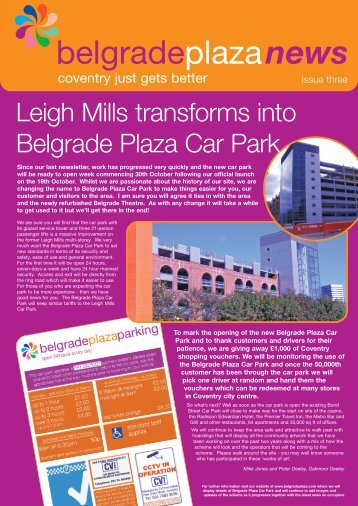 Newsletter 3 - Winter 2006 (1.4Mb PDF) - Belgrade Plaza