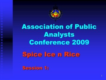 Presentation - Association of Public Analysts
