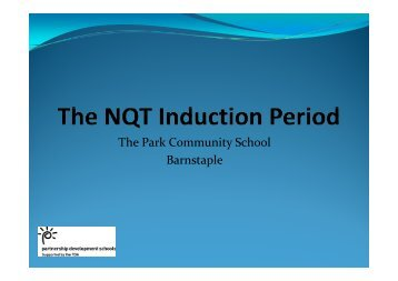 The NQT Induction Period.pdf - Graduate School of Education