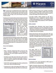 2012 Third Quarter Review - Hayes Commercial Group