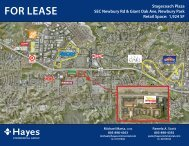 FOR LEASE - Hayes Commercial Group