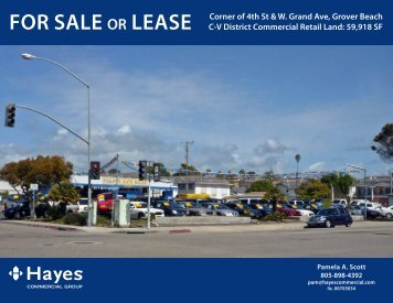 FOR SALE OR LEASE Corner of 4th St & W. Grand Ave, Grover ...