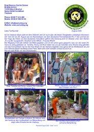 Rundbrief August 2009 - The Dog Rescue Center Samui