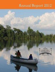Annual Report 2012 - Tiffin Charitable Foundation