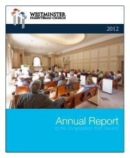2012 Annual Report to the Congregation from Session