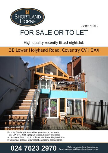 FOR SALE OR TO LET