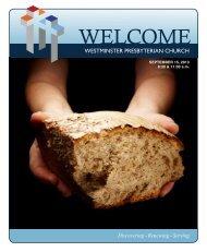 September 15, 2013 - Westminster Presbyterian Church