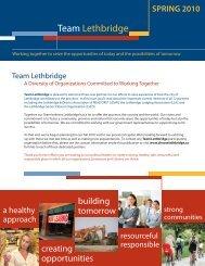 Team Lethbridge - Spring Newsletter - Economic Development ...