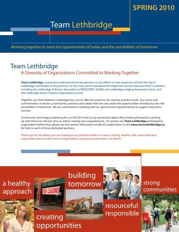 Team Lethbridge - Spring Newsletter - Economic Development ...