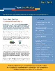 Team Lethbridge - Fall Newsletter - Economic Development ...