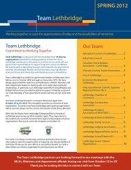 Check out our Brochure - Economic Development Lethbridge