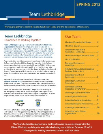 Check out our Brochure - Economic Development Lethbridge