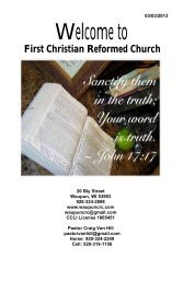 March 3 - First Christian Reformed Church