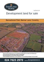 Development land for sale