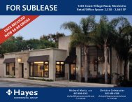 FOR SUBLEASE - Hayes Commercial Group