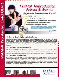 MAM-A Pro Audio Gold CD-R - Data Direct