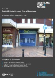 TO LET Retail/A2 Unit with upper floor office/stores