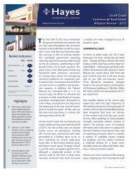 2013 Mid-Year Review - Hayes Commercial Group
