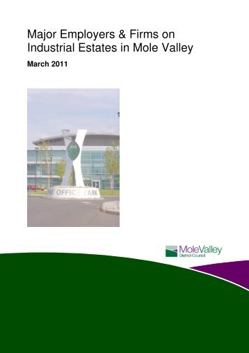 Major Employers and Firms on Industrial Estates - Mole Valley ...
