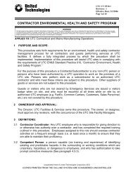 contractor environmental health and safety program - United ...
