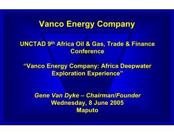 Vanco Energy Company - Unctad XI