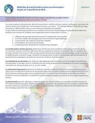 Méthodes de transformation autres que thermiques : Impact sur la ...