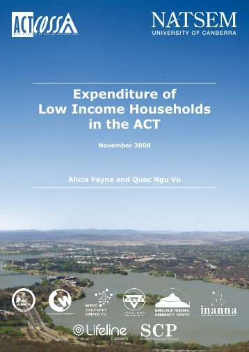 Expenditure of Low Income Households in the ACT - ACT Council of ...