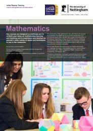 Mathematics - University of Nottingham