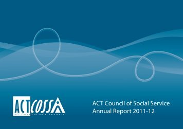 ACTCOSS Annual Report 2011-12 - ACT Council of Social Service