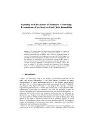 Exploring the Effectiveness of Normative i* Modelling ... - Tropos