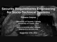 Security Requirements Engineering for Socio-Technical ... - STS-Tool