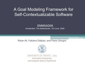 A software engineering approach to software runtime self ... - Tropos