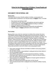 Policy for the Safeguarding of Children, Young People and ... - Engage
