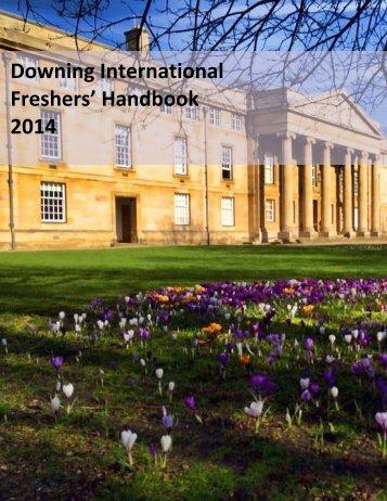 International Freshers' Handbook - Downing College