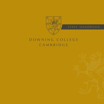 to download a copy of the staff handbook. - Downing College