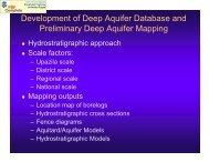 Development of Deep Aquifer Database and Preliminary Deep ...