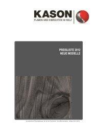 PREISLISTE 2012 NEUE MODELLE - Kason