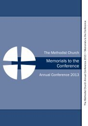 Memorials to the Conference - Methodist Conference